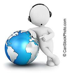 3d, branca, pessoas, comunicação