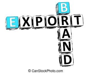 3D Brand Export Crossword