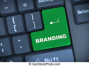 3d branding keyboard concept