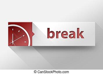 3d Break time in work flat design, illustration - 3d Break ...