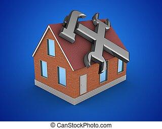 3d bricks house