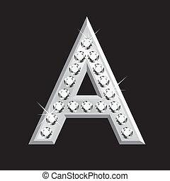 3d, brief, diamanten
