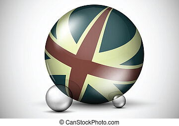3D British flag on the ball field