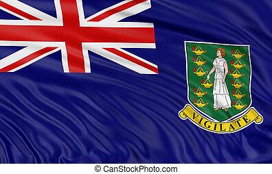 3D British Virgin Islands Flag