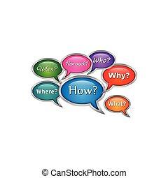 3d bubble chat (QUESTIONS SPEECH EMBLEM)