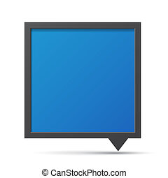 3D bubble talk blackboard. Design element , Illustrator...