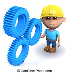 3d Builder checks the cogs