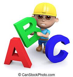 3d Builder teaches the alphabet