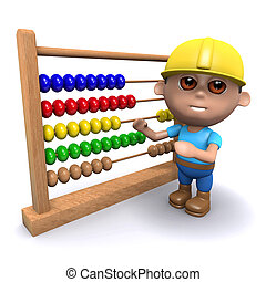 3d Builder with an abacus