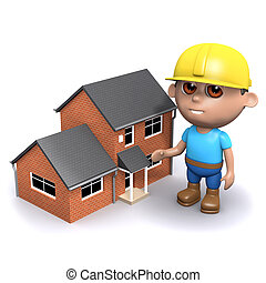 3d Builder with house