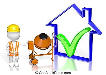 3D building a house concept
