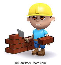 3d Building a wall