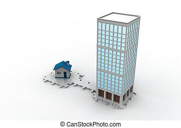 3d building constructions