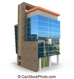 3d building on white