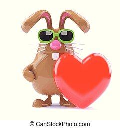 3d Bunny love