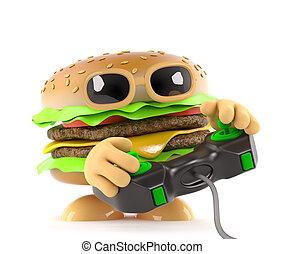 3d Burger gamer