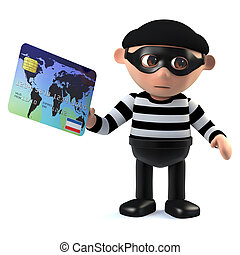 3d Burglar pays with a debit card