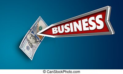 3d business arrow
