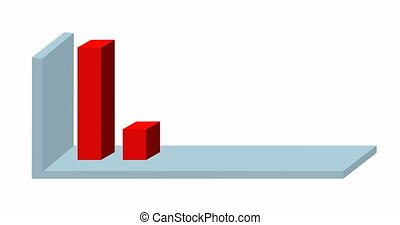 3D business chart graph. graphs and charts animation. infographics for presentation. 3d bar chart animation.