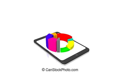 3D - business diagram/ chart - 3D animation/ 3D rendering -...