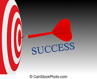 3d business goal or objective. success concept