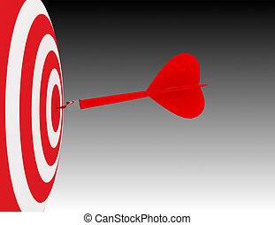 3d business goal or objective. success concept