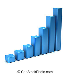 3D Business Growth Bars