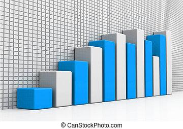 3d business growth graph
