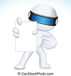 3d Business Nan in vector showing Blank Card - illustration...