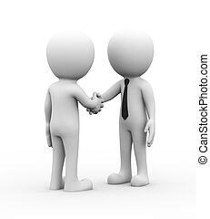 3d business people hand shake