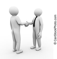 3d business people handshake
