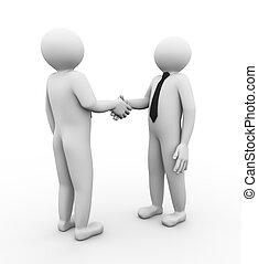 3d business people handshake
