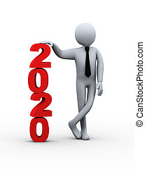 3d businessman 2020 presentation