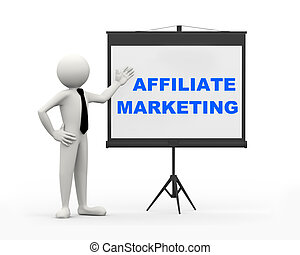 3d businessman - affiliate marketing