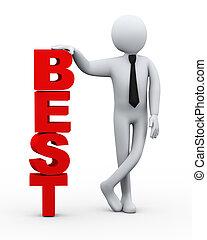 3d businessman best word presentation
