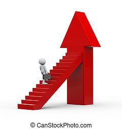 3d businessman climbing