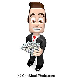3D businessman