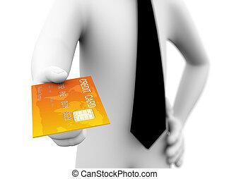 3d businessman credit card offer