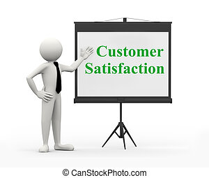 3d businessman - customer satisfaction