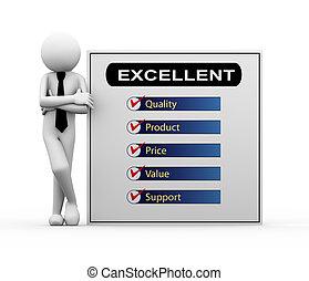 3d businessman - excellent product illustration