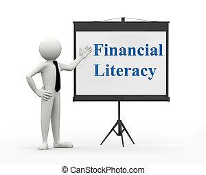 3d businessman - financial literacy