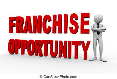 3d businessman franchise opportunity
