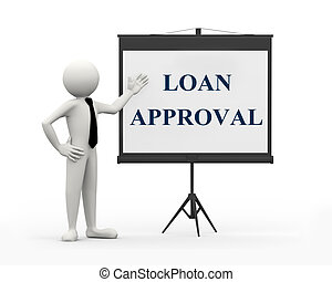 3d businessman - loan approval