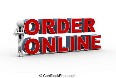 3d businessman online order