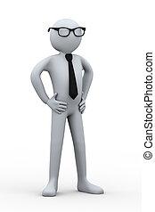 3d businessman posing