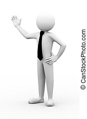 3d businessman presentation illustration