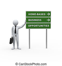 3d businessman road home based business opportunities
