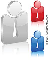 3D businessman symbol