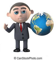 3d Businessman wants to go global