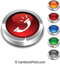 3d, button., 電話